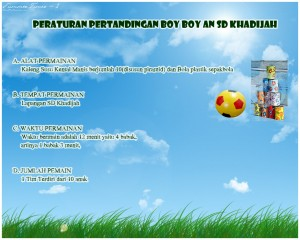 PERATURAN PERTANDINGAN BOY